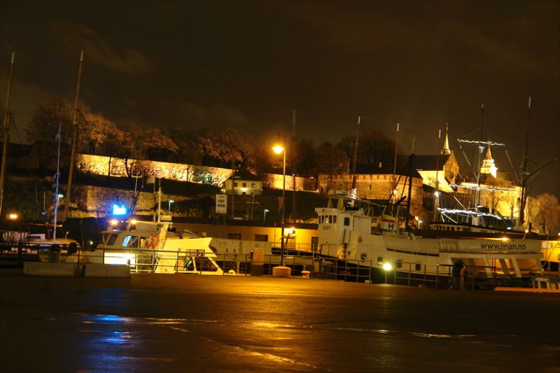 Fjord, harbour and Akershus Slott