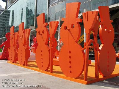 Orange Snowmen