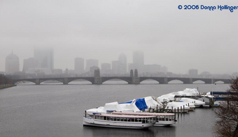 Misty Boston Bridge