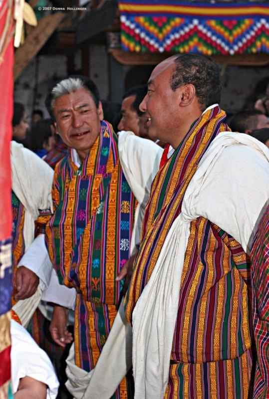 White shawl signifies notable status