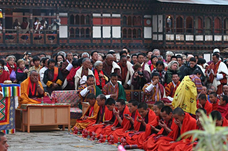 Paro Lama and monks