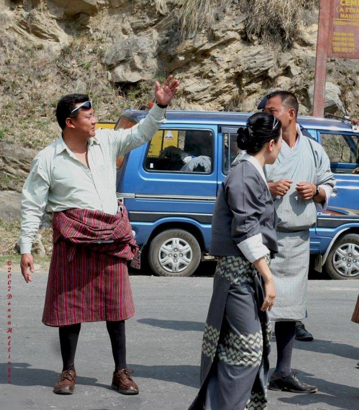 Wangdi negotiating a crossing