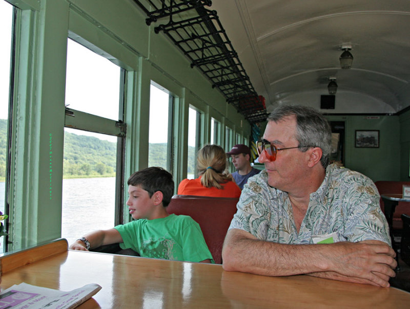 Peter and Joncarlo on Green Mountain Flyer