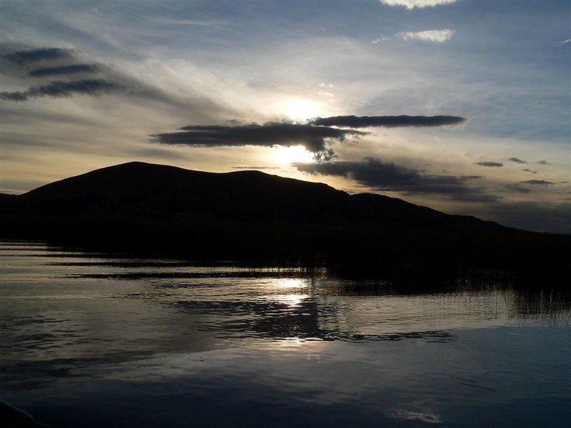 Spirit Of Condor Landed...Sunset On Titicaca Lake