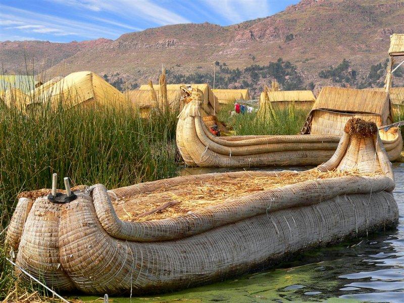 Tatora Boats On Titicaca Lake