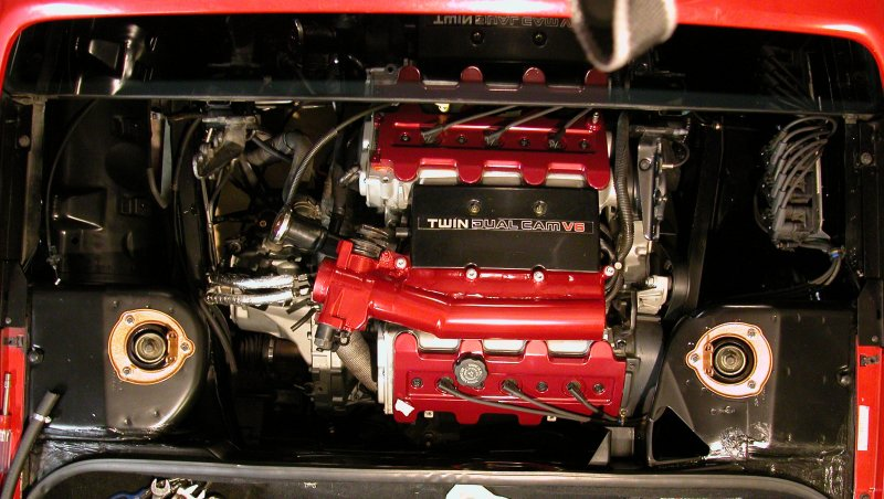 3.4 DOHC - Engine Bay Top View