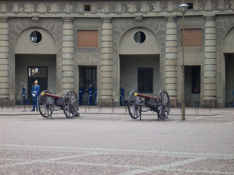 Canons Inside Palace Walls