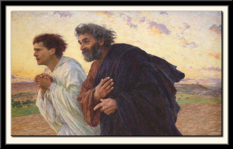 Les disciples Pierre et Jean courant au sepulcre le matin de la Resurrection, 1898