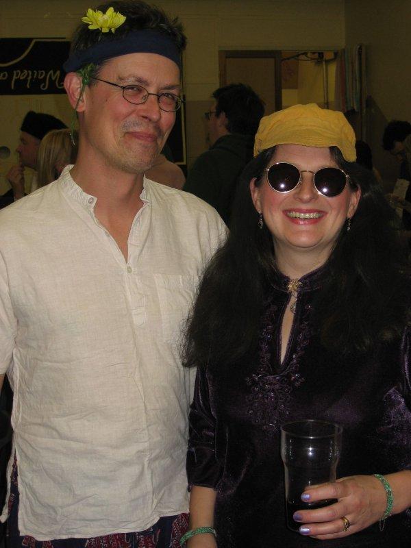 A pair of hippies! (John & Yoko)