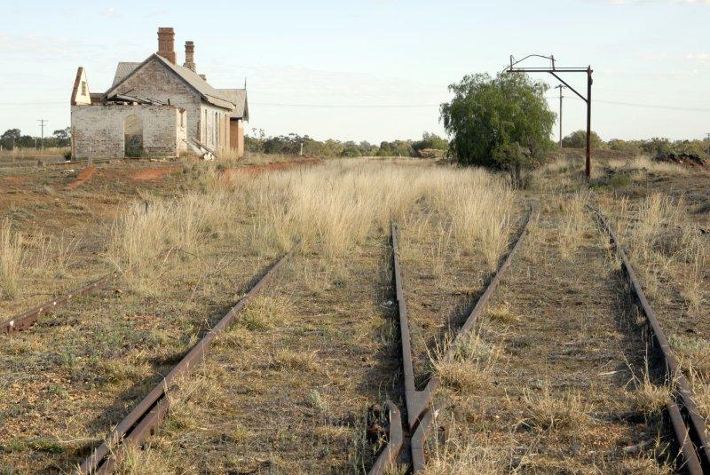 The abandoned Girilambone Railway Station.