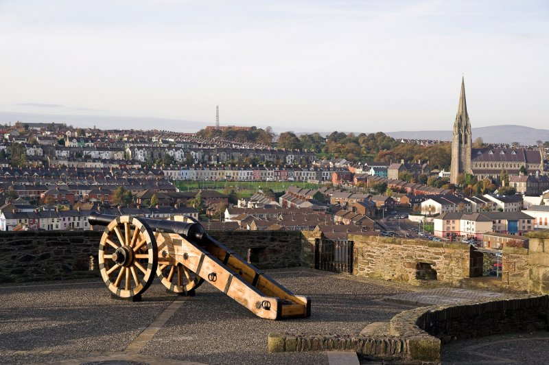 Another cannon and view over part of the city