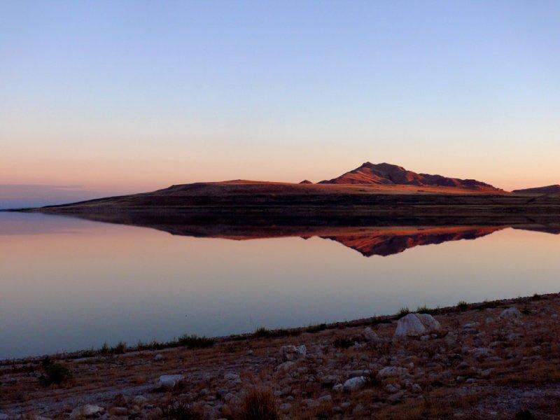 Mirrored, Antelope Island, Utah, 2006