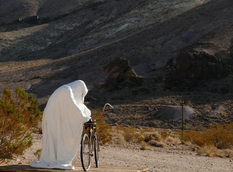 Ghostly welcome, Rhyolite, Nevada, 2007