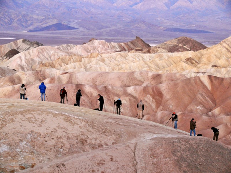 Photographers, Zabriskie Point, Death Valley National Park, California, 2007