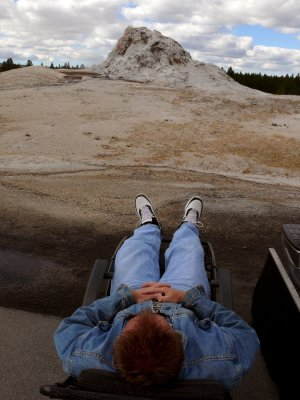 Waiting, White Dome Geyser, Yellowstone National Park, Wyoming, 2006