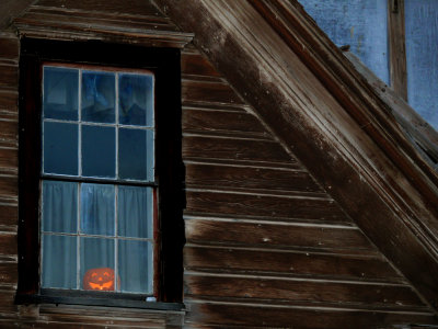 A face in the window, Bodie Historic Park, California, 2006