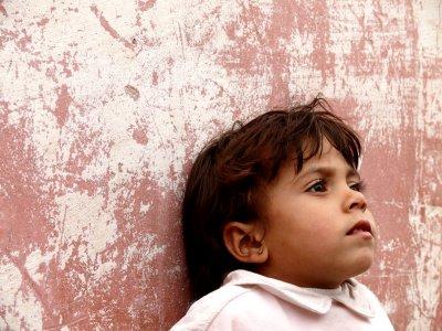Shy child, Sebt-des-Gzoula, Morocco, 2006