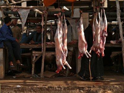 Butchers bench, Essaouira, Morocco, 2006