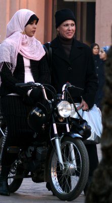 Motorized commuter, Marrakesh, Morocco, 2006