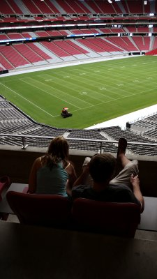 Mowing the lawn, University of Phoenix Stadium, Phoenix, Arizona, 2007