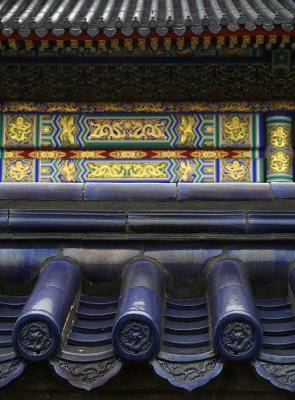 Ceramic roof tiles in context, Temple of Heaven, Beijing, China, 2007