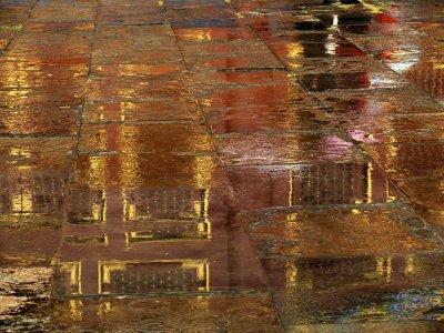 Rain, Temple of Heaven, Beijing, China, 2007