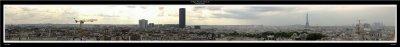 270-Degree Panorama of Paris City