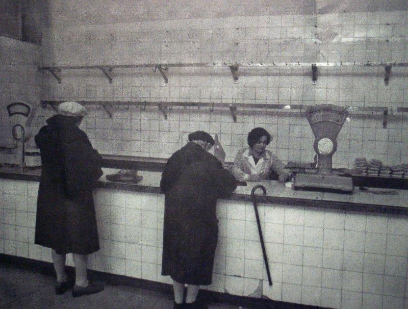 socialistic prosperity - butcher shop - 1982