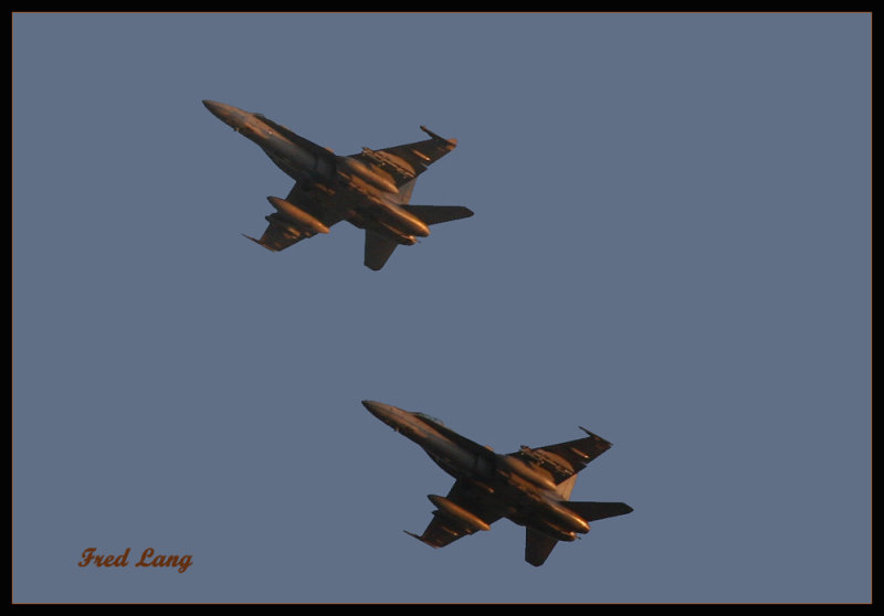 F-18s at Sunset