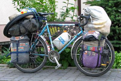 153  Daisuke - Touring through Poland - Velo Wood Bell touring bike