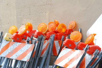 Stacked barricades