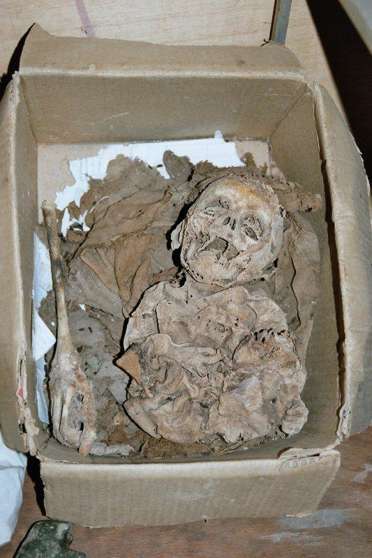 Baby mummy found in a mausoleum close to Uchucmarca