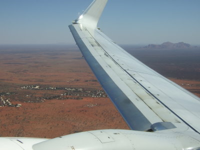 Taking off from Ayers Rock Airport