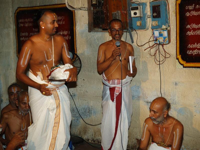Upanyasam at Swami Desikan Sannidhi
