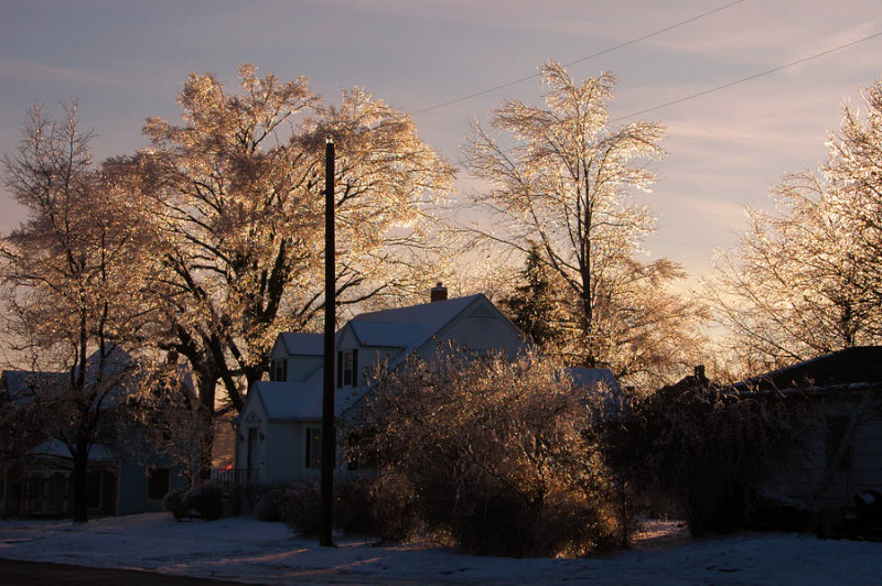 Ice Storm with House