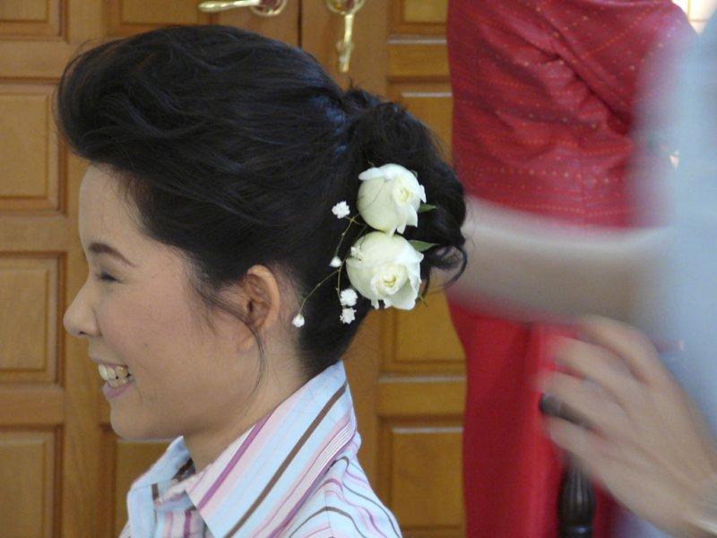 dressing up the bride - satisfied customer.jpg