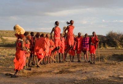 Traditional men ritual dance