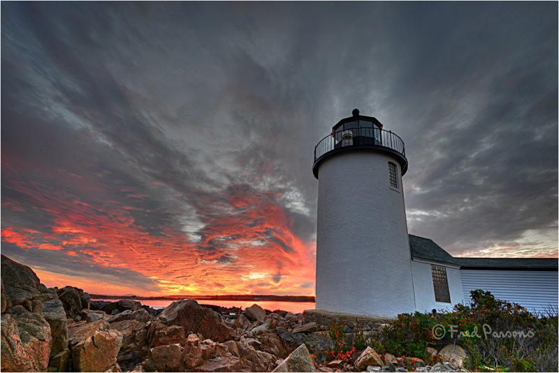 _DSC3460  Sunset at Goat Island Light