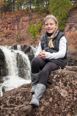 Caitlin at Gooseberry Falls 2014