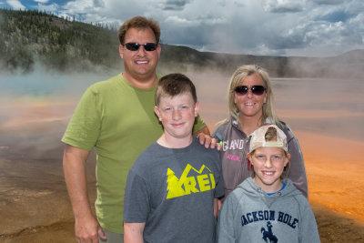 Lentz family at Grand Prismatic
