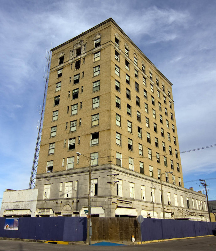 The Sabine Hotel 1929 Is Vacant As Most Of Entire Downtown From What I Have Read It Needs An Investor Soon Or Could Face Demolition