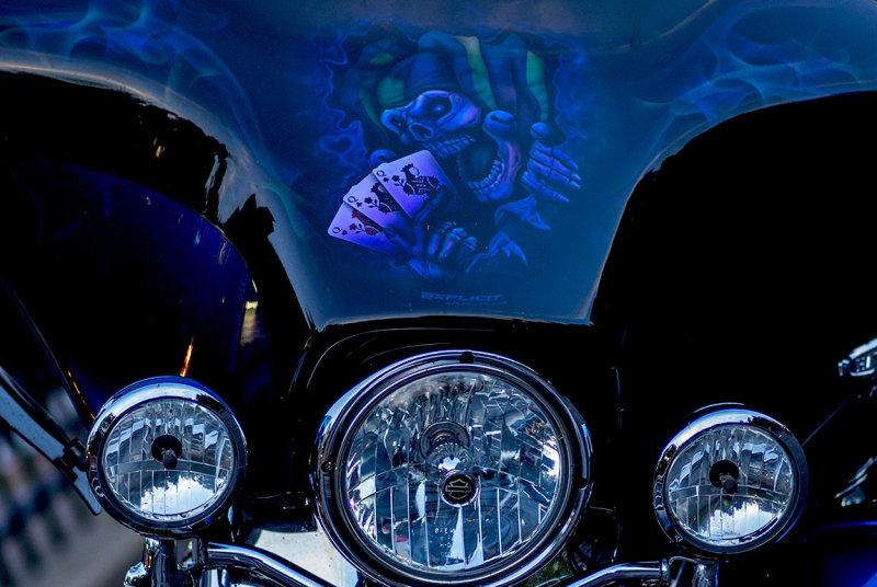 An artful Harley.