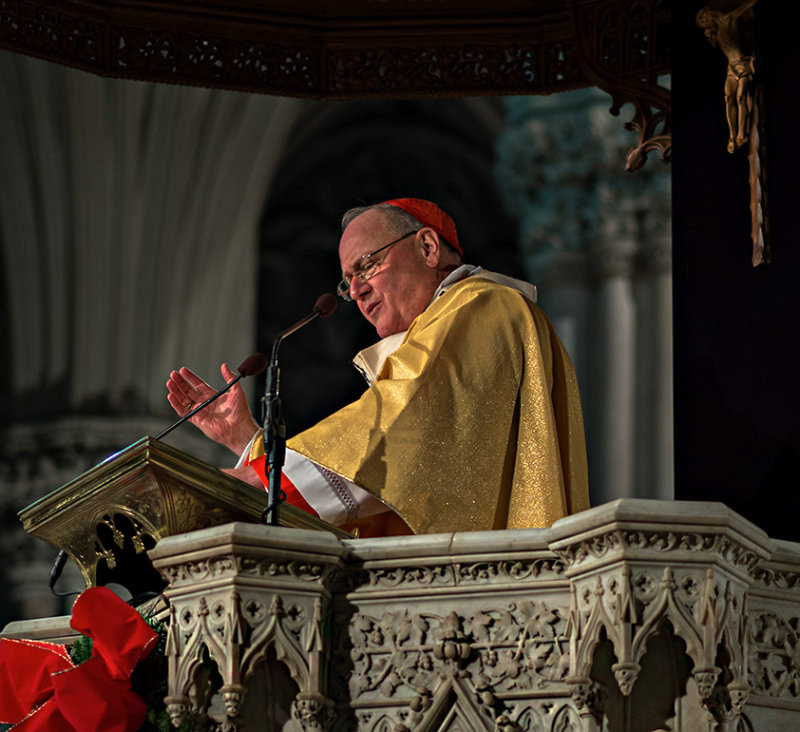 Cardinal Dolan - Midnight Mass 2013 - St. Patricks Cathedral #2