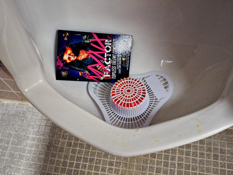 Warning disgusting -  Urinal Advertising
