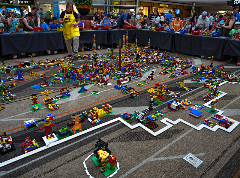 Grand Opening of a Lego store at the mall.