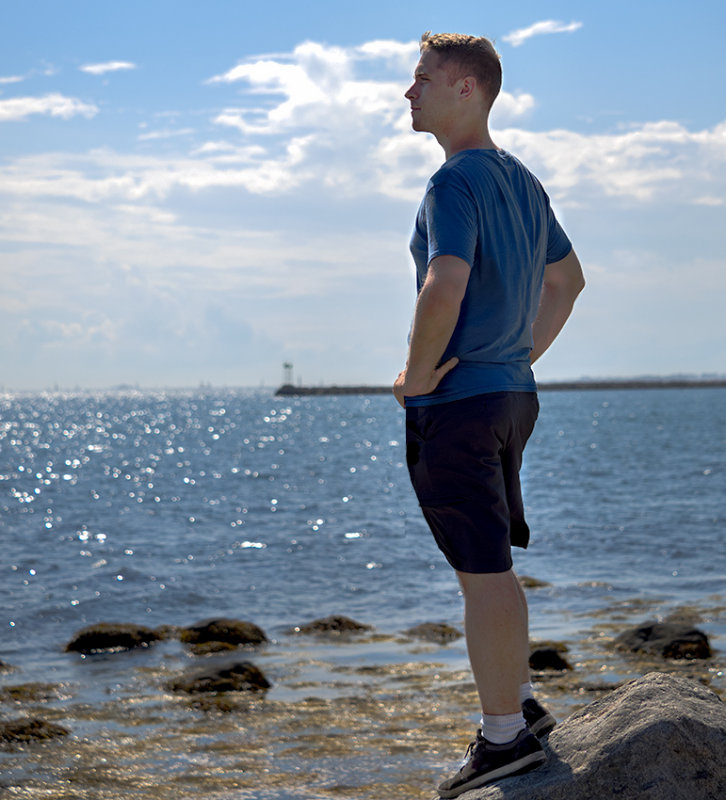 USN Sailor - looking out to sea.