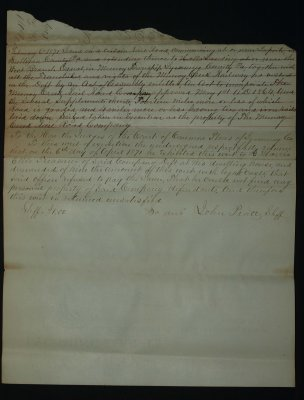 April 1871 - writ - Bottom torn off Back