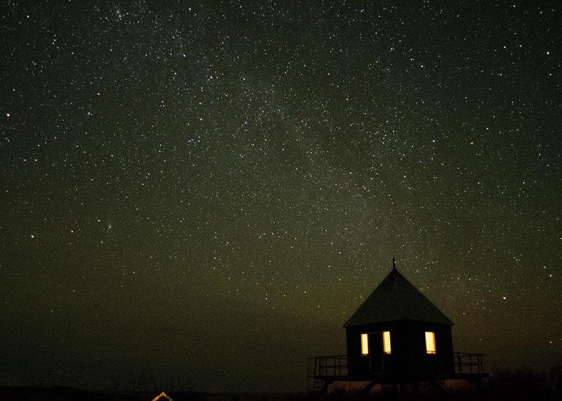 Rottumerplaat bij nacht