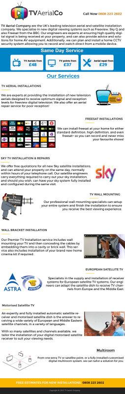 TV Aerial Company Infographics
