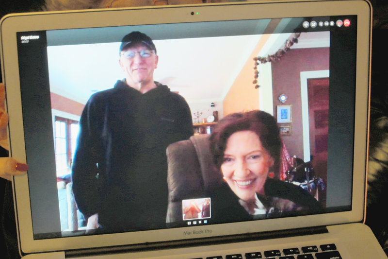 Julie Wiley and Nigel Bates, Skyping from Napa (2011).